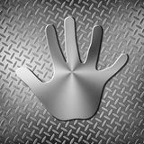 Metal handprint Stock Image