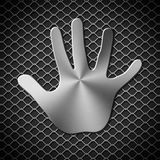 Metal handprint Royalty Free Stock Photography