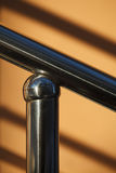 Metal handrail Stock Photo