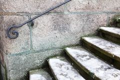 Metal handrail Royalty Free Stock Image
