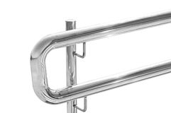 Metal handrail. Metal railings. fragment. small architecture forms. design stock photos
