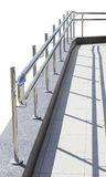 Metal handrail. Metal railings. fragment. small architecture forms. design stock photography