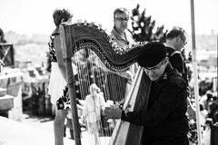 Metal Harp Royalty Free Stock Photos