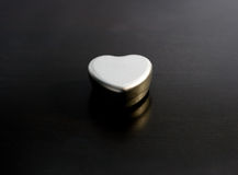 Metal heart. Metal gift box shaped like a heart Stock Photography