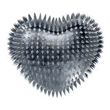 Metal heart. Royalty Free Stock Photo