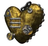 Metal heart. On white background - 3d illustration Royalty Free Stock Photography