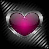 Metal heart Stock Photo