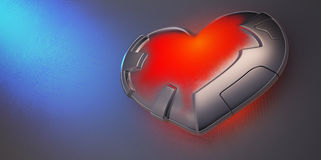 Metal heart Stock Photo