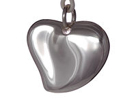 Metal heart Royalty Free Stock Photo