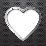 Metal heart background Royalty Free Stock Photo