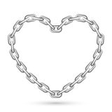 Metal Heart Shaped Chain Royalty Free Stock Images
