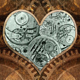 Metal heart ticking inside. Royalty Free Stock Photos