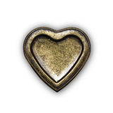 Metal heart Stock Photography