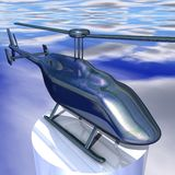 Metal helicopter Stock Photo