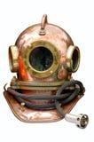 Metal helmet of the diver. Stock Photography