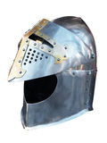 Metal helmet of the knight Stock Image