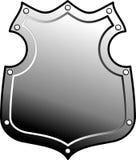 Metal heraldic shield Stock Images