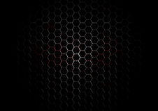 Metal Hexagon Grid with blood splatter on Black Background Stock Photo