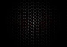 Metal Hexagon Grid with blood splatter on Black Background Stock Photo