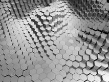 Metal hexagons background Royalty Free Stock Image
