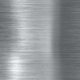 Gebürstete metallische Aluminiumplatte Stockfotografie