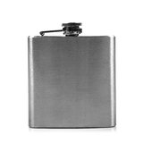 Metal hip flask isolated on white Stock Image
