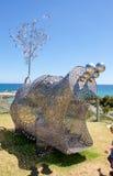 Metal Hippo Sculpture royalty free stock photos