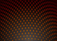 Metal hole punch background. Abstract metal curve background with orange holes and shadow Stock Images