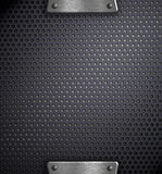 Metal holed background template Royalty Free Stock Photography