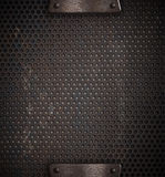 Metal holed or perforated grid Stock Images