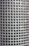 Metal holed or perforated grid background Royalty Free Stock Photos