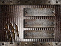Metal holed or perforated grid background Royalty Free Stock Image