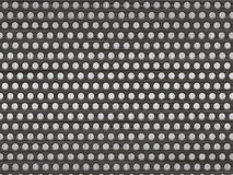 Metal with holes. Metal plate with holes over brushed metal background Stock Photography