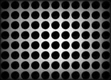 Metal Holes Background. An abstract background illustration of metal holes Royalty Free Stock Photo