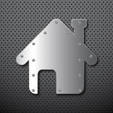 Metal home background Stock Photo
