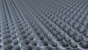 Metal honeycomb background Stock Images