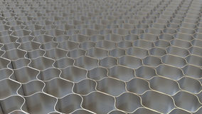 Metal honeycomb background Stock Photo