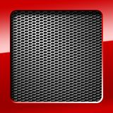Metal honeycomb grid Royalty Free Stock Photography