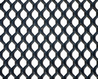 Metal honeycomb grid, white background Royalty Free Stock Photos