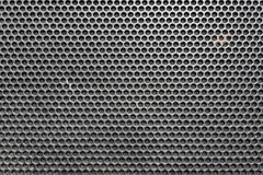 Metal honeycomb grilled pattern in front of music speaker as background.  vector illustration