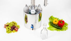 Metal hooch with fruits and vegetables Stock Photos