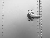 Metal hook door Stock Photo