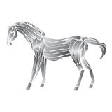 Metal horse isolated  on white background Stock Images