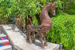 Metal horse sculpture Stock Photos