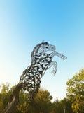 Metal horse statue Royalty Free Stock Photos