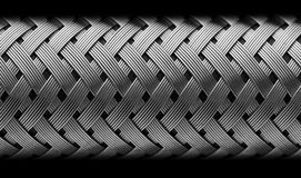 Metal hose. On black background stock photos