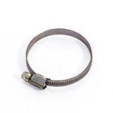 Metal hose clamp. Royalty Free Stock Photos