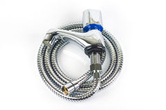 Metal hose pipe Stock Images