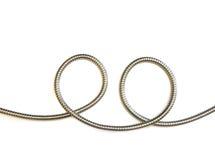 Metal hose smiley Stock Image