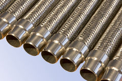 Metal hoses. Royalty Free Stock Photography